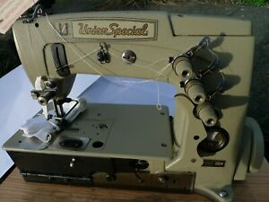vintage Union Special Industrial Sewing Machine Never Used With Accessories