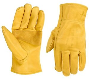 Wells Lamont Premium 100 Cowhide Leather Work Gloves X large 3 Pair