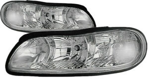 For 1997 1998 1999 2000 2001 2002 2003 Chevy Malibu Headlights Headlamp Pair Set