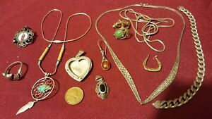 12 Pcs Lot Vintage Sterling Silver Rare Very Old Somewhere Some Fix And Where