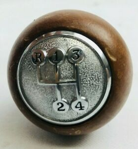 Cal Custom Vintage Woody Shift Knob 4 Speed Reverse Up Left 60s 70s Muscle Usa