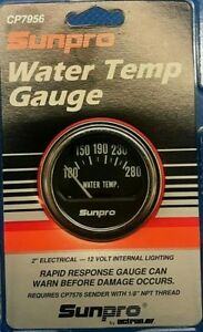 New 2 1 16 Electrical Water Temp 100 280 Gauge With Hardware Sunpro