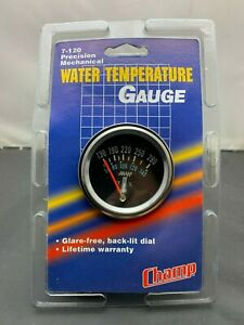 Vintage Nos Automotive 2 1 16 Chrome Mechanical Water Temperature Gauge Kit