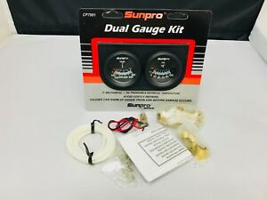 New Sunpro Dual Gauge Oil Pressure Mechanical Water Temperature With Hardware