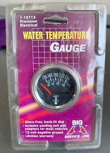 Nos 2 Electrical Water Temperature Gauge 12v 130 290 1 10713 Chevy Gm Ford