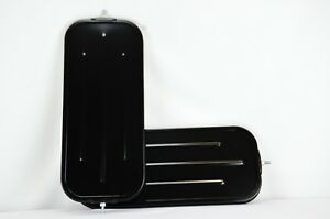 One Pair Of 7 X 16 Mirrors Black Steel Plated Truck Mirrors High Quality