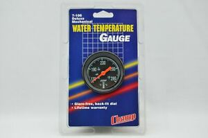 New 2 1 16 2 Black Mechanical Water Temp temperature Gauge With Hardware