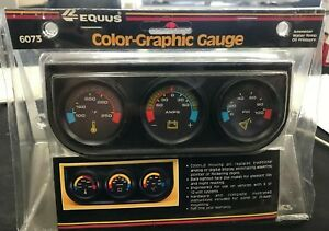 1 1 2 Equus 6073 Color Graphic Mechanical Mini Triple Gauge Water Oil Amp