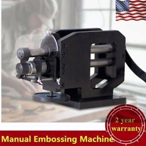 Manual Embossing Machine Paper Rubber Belt Leather Printing Machine Heavy Duty