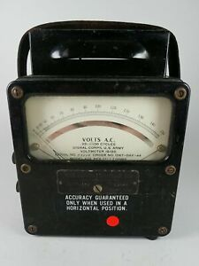 Us Army Signal Corps Voltmeter Volts A c Meter Weston Model 433