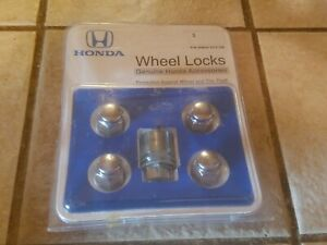 Honda 08w42 Scv 100 Wheel Lock Set Genuine Accessories Tire Theft Prevention