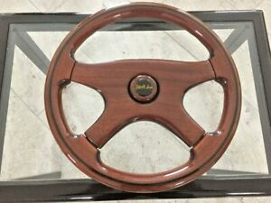 Rare Vintage Wooden Steering Wheel Sportline Made In Italy New