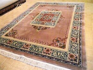 9x12 Chinese Rug Vintage Aubusson Pekin Authentic 100 Wool Oriental Rug 90 Line