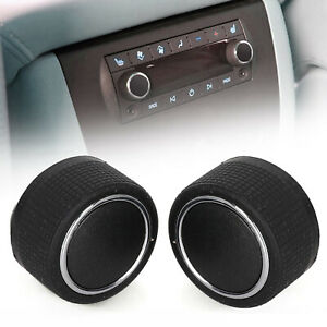 2pc Rear Radio Volume Control Knob Chrome Fits Buick Cadillac Chevy Gmc Pickup
