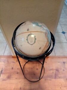 Vintage Replogle 12 Globe With Eclipse Floor Stand Very Rare