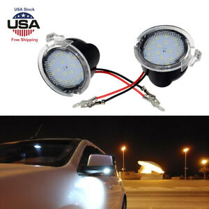 Led Side Rear View Mirror Puddle Lights For Ford Focus F150 Raptor Edge Fusion