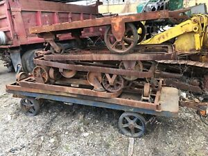 Vintage Industrial Cart Roller Steampunk Rolling Wheeled Steel Antique Heavy Dut