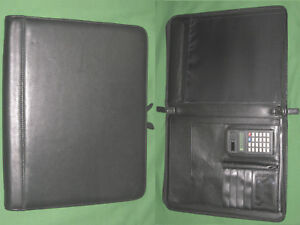 Monarch Black Leather Franklin Covey Planner Binder Note Pad 8 5x11 6048