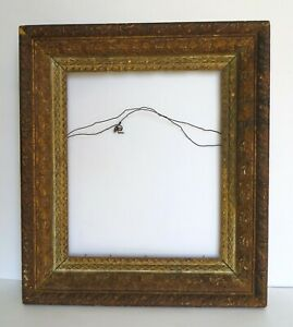 Antique Gold Victorian Wood Gesso Picture Frame 10 X 12