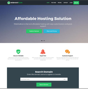 Complete Web Hosting Business With Website Builder Full Customizable Admin