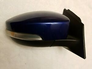2012 2013 2014 Ford Focus Right Passenger Side Mirror Heated Sonic Blue