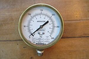Marsh Air water Pressure Gauge Industrial 1997 For Fire Protection Service