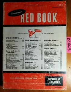 I t Farm Equipment Reference Red Book Nebraska Tractor Test 1959