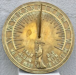 Roman Brass Father Time Sundial By Roman Industries Model 2345