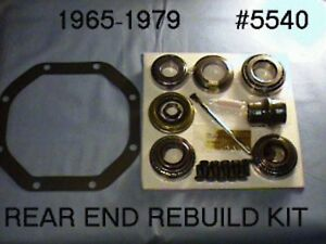1965 1979 Corvette Rear End Differential Rebuild Kit With Timken Bearings
