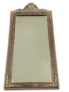 Rare Antique Narcissus Mirrors Victorian Wall Mirror Wood W Gesso Frame 25 5