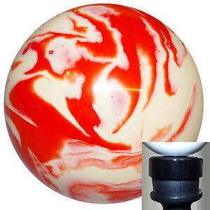 Marbled Orange And White Shift Knob With Black Adapter Kit Fits New Dodge Dart