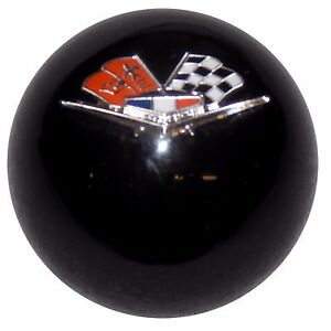 Black Chevy Flags Shift Knob W C5 Automatic Shifter Adapter U S Made