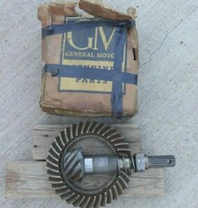 Nos 1940 1952 Chevy Rear End Ring Gear Pinion 37 9 Original 1953 Sdn Delivery