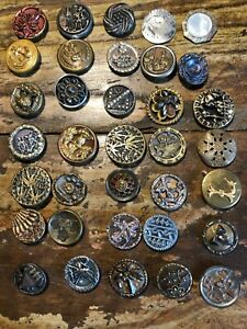 35 Antique Shankless Buttons Circa 1880 S 7