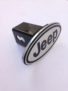 Jeep Tow Hitch Cover Plug Cap 2 Trailer Receiver With Black Frame