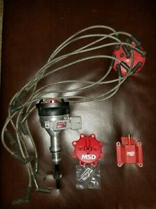 Msd Ignition 8456 Pro Billet Distributor And Msd Coil And Plug Wires