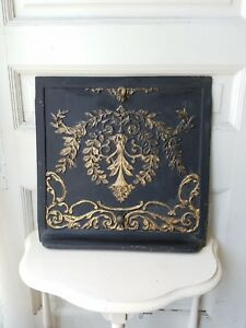 Antique Fireplace Summer Cover Victorian Salvaged Cast Iron Fireplace Screen
