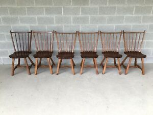 Hunt Country Furniture Set Of 6 Birdcage Dining Chairs Windsor Chairs
