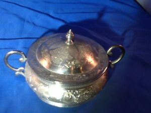 Fine Persian Chased 84 Sterling Silver Sugar Bowl For Tea Set