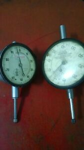 Federal Starrett Machinist Dial Indicator Gauges Set Of 2 Dial Indicators