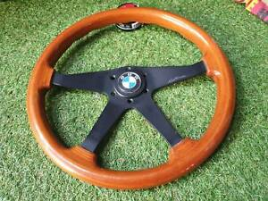 Rare Vintage Bwa Wood Steering Wheel With Jdm Suzuki Horn Button Jimny Vitara