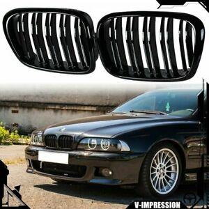 Kidney Grille Grill Gloss Black Front For Bmw E39 5 Series M5 520 523 525 535