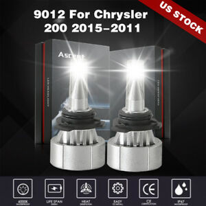 9012 Led Headlight Bulbs Fit Chrysler 200 Jeep Cherokee Chevy Cruze Accessories