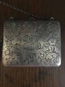 Antique Victorian R Blackinton Co Sterling Silver Monogrammed Coin Purse