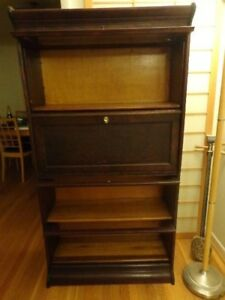Antique Gunn Barrister Bookcase With Desk Unit Very Nice