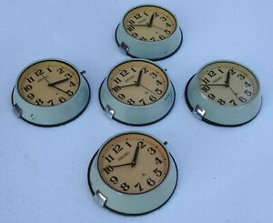 Lot Of 5 Vintage Maritime Original Slave Ship Nautica Seiko Quartz Clock Japan