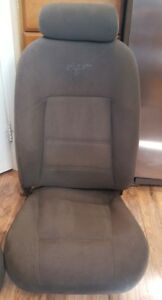 Ford Mustang V6 Graphite Grey Cloth Pony Seat 99 04 Roush 03 Cobra Saleen Pass