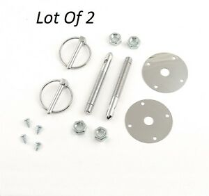 Lot Of 2 Mr Gasket 1017 Hood And Deck Pinning 2 Piece Kit