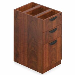Offices To Go 3 Drawer File Pedestal With Lock In American Dark Cherry