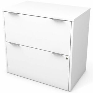 Bestar I3 Plus 2 Drawer Lateral File Cabinet In White
